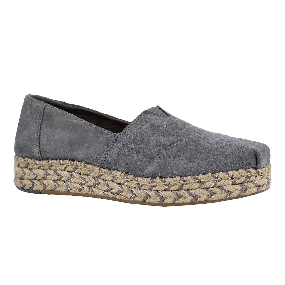 b4aaf21bf1a TOMS Women s PLATFORM ALPARGATA shade loafers Women s Casual Shoes Grey.  Lds Platform Alpargata shade loafer