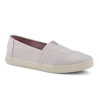 Lds Avalon lilac glimmer canvas loafer