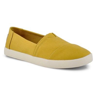 Lds Avalon tawny gold canvas loafer