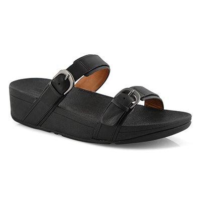 Lds Edit black slide sandal