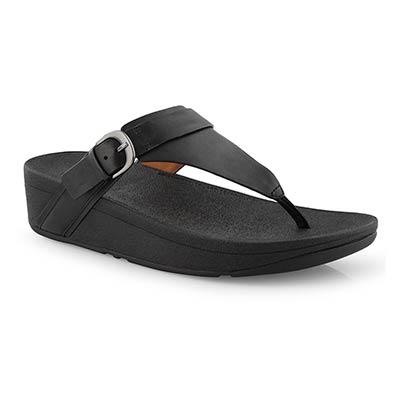 Lds Edit black thong sandal