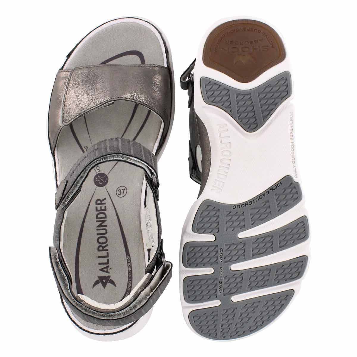 Lds Tabasa pewter casual sandal