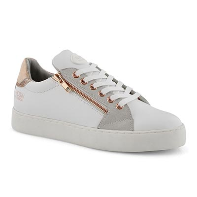 Lds Tabatha white/rose casual sneaker