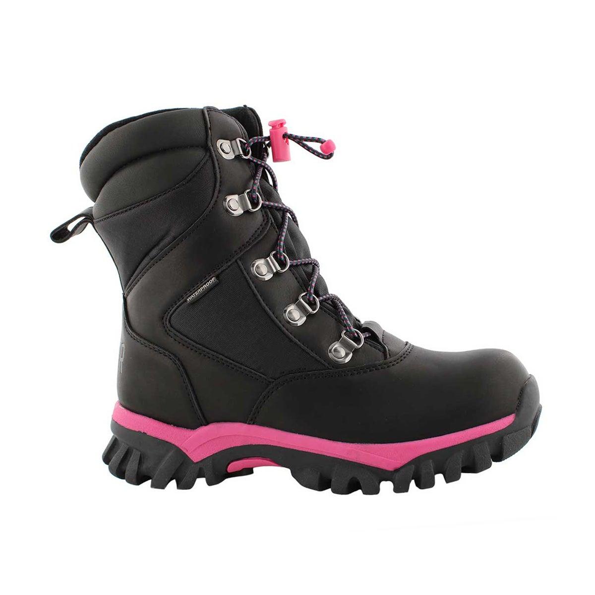 Grls Tabby blk wtpf winter boot