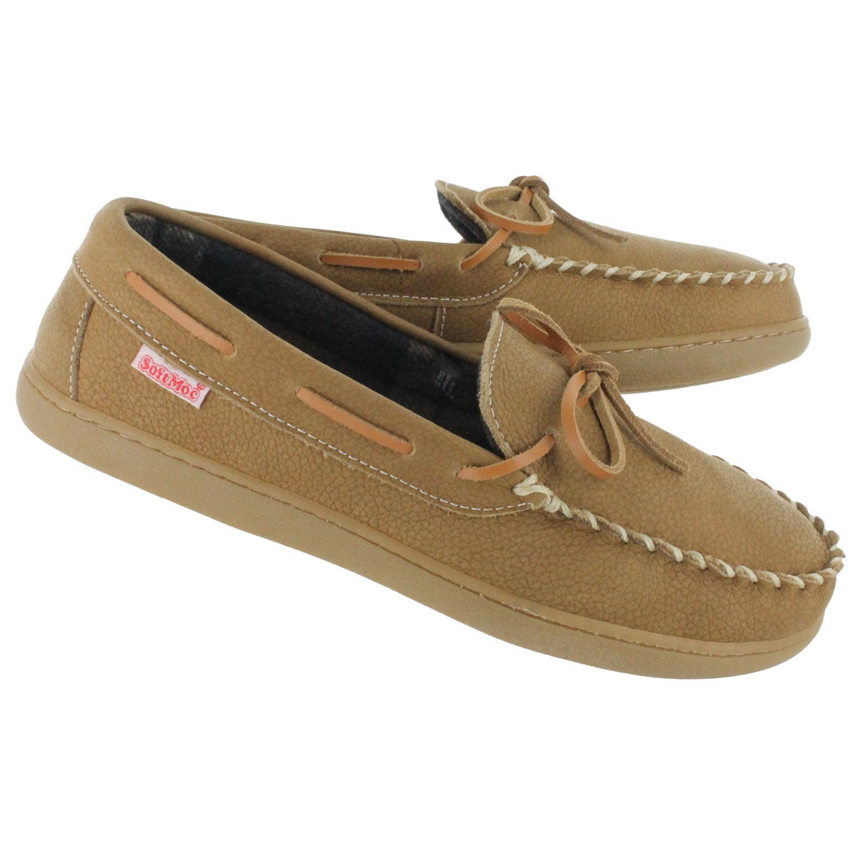 Mns Tag tan leather moccasin