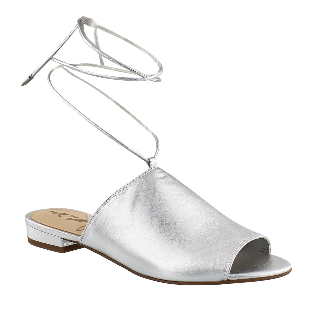 Women's TAI silver casual slide sandals