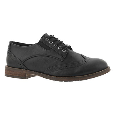 Lds Talia black lace up oxford