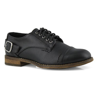 Lds Talia 2 black lace up oxford