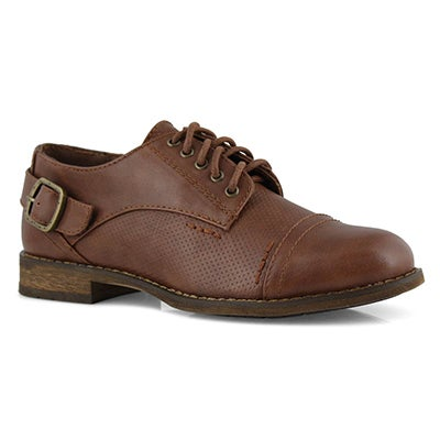 Lds Talia 2 brown lace up oxford
