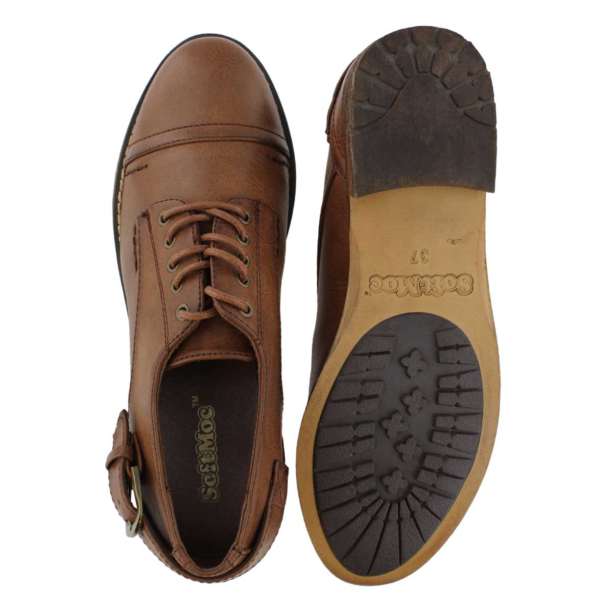 Lds Talisa brown casual oxford shoe