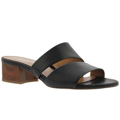 Franco Sarto Women's TALLEN black slide dress sandals