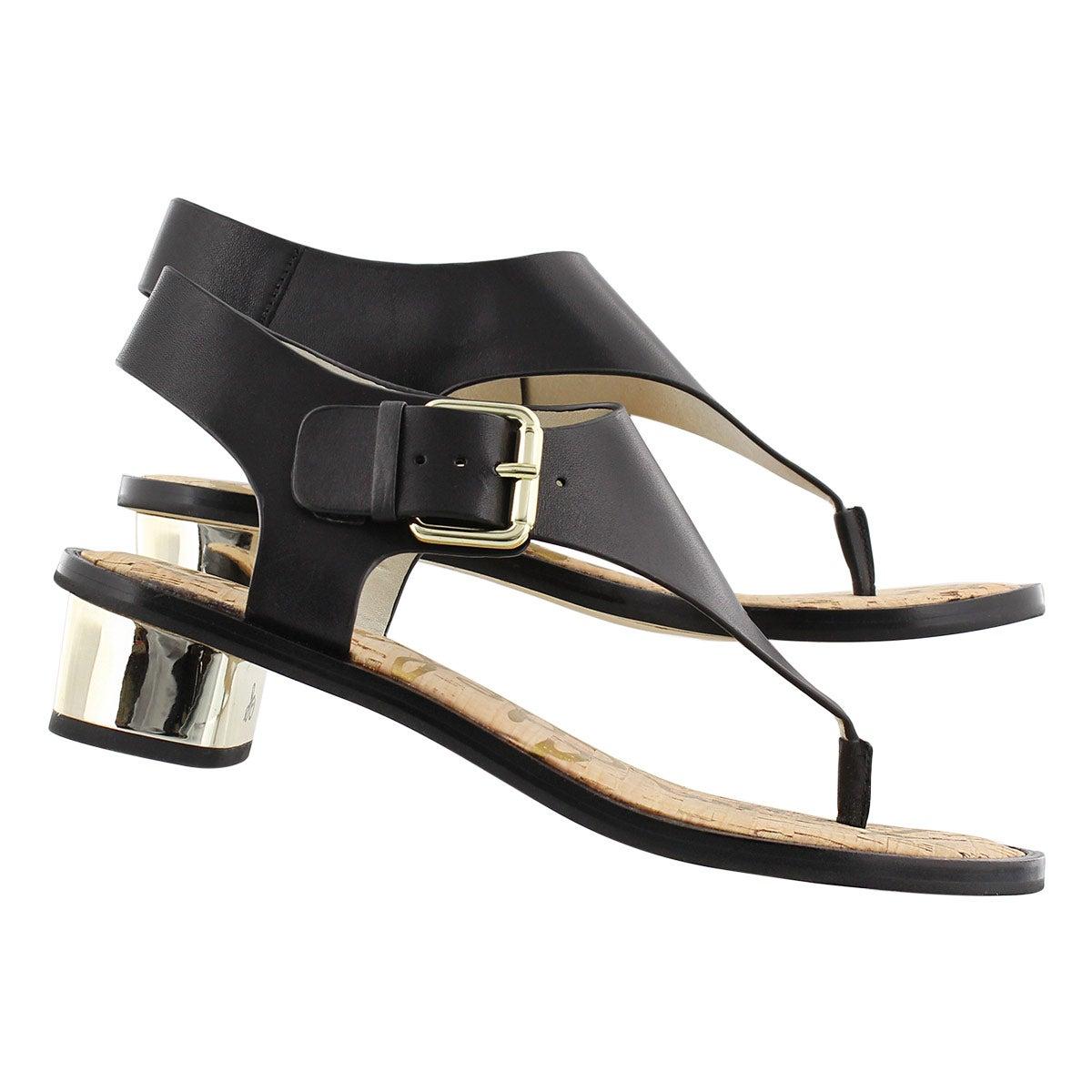 Lds Tallulah black casual sandal