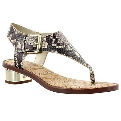 Sam Edelman Women's TALLULAH natural/ python casual sandals