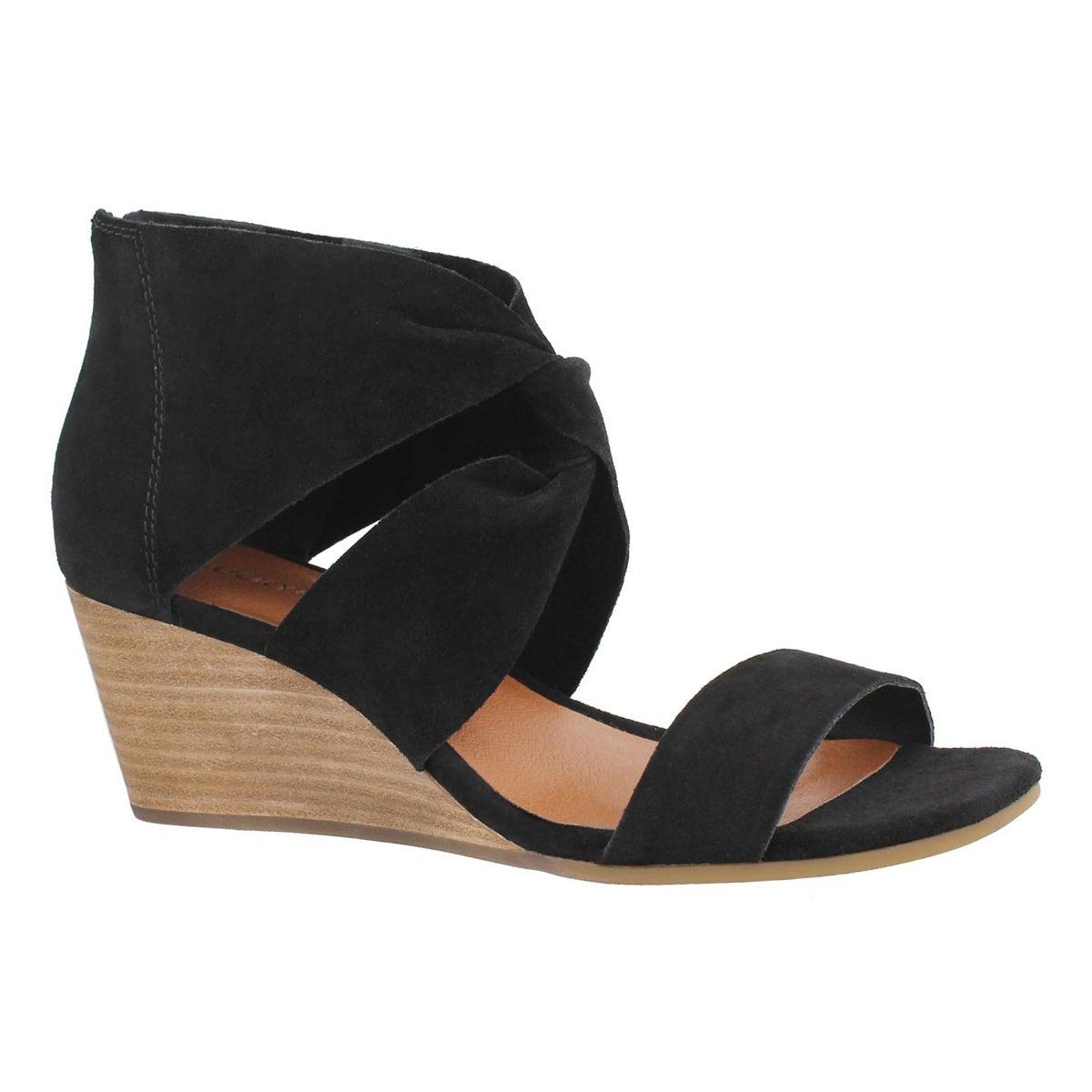 Women's TAMMANEE black wedge sandal