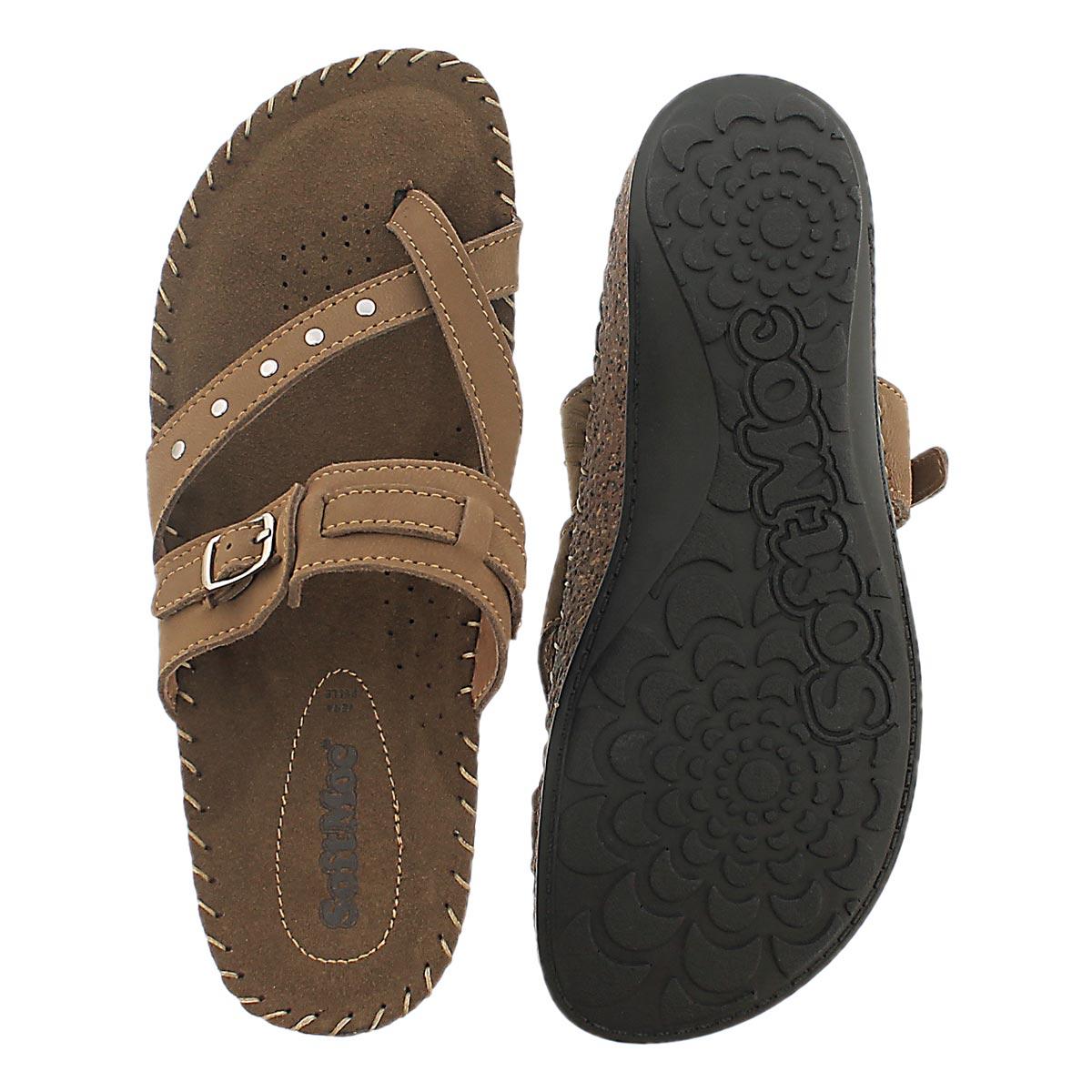Lds Tammy 2 chestnut memory foam sandal