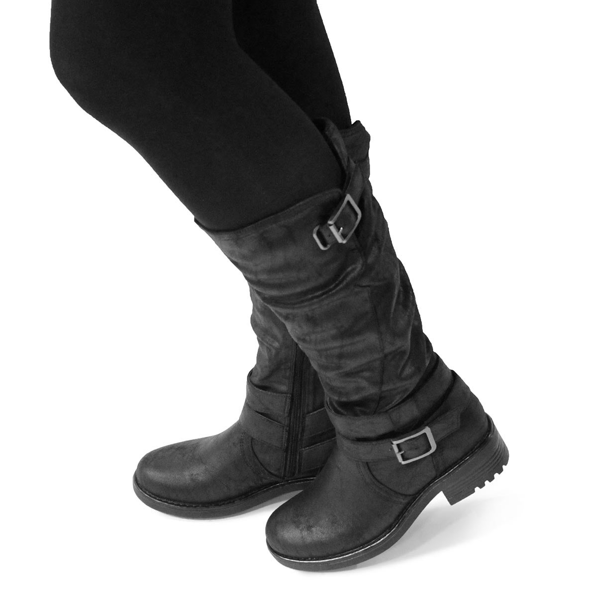 Totes GIRLS TANYA //BLACK COLD WEATHER BOOTS ONE SIZE  NEW IN BOX