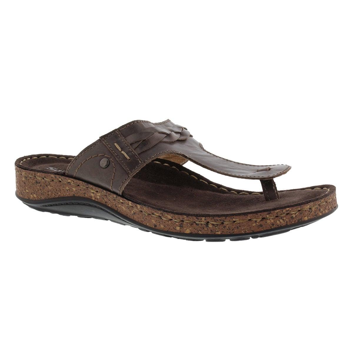 Lds Tari 2 brn memory foam thong sandal
