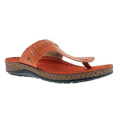 SoftMoc Women's TARI 2 orange thong sandals