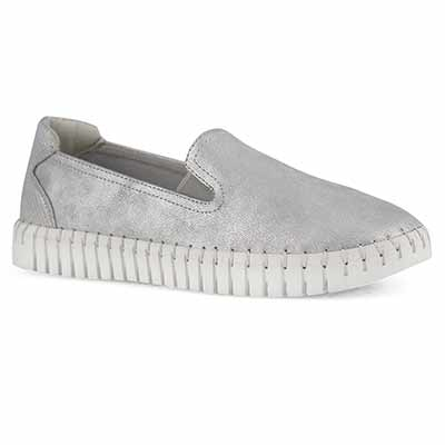 Lds Tasha silver casual slip on