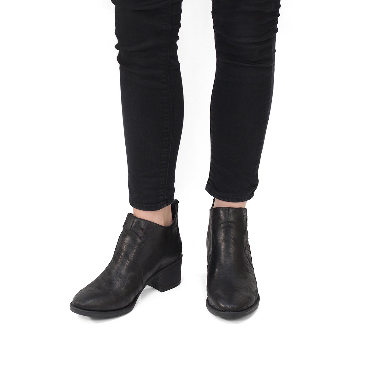 Lds Tatiana black casual ankle boot