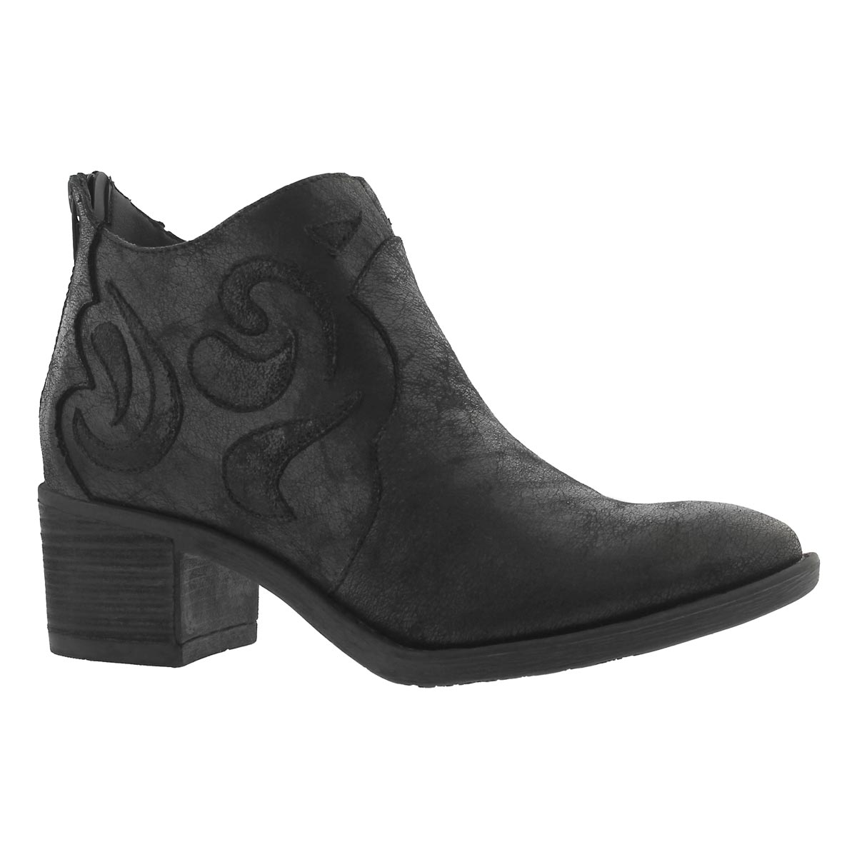 Women's TATIANA black casual ankle boots