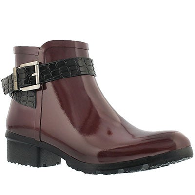 Lds Taylor burgundy short rubber boot