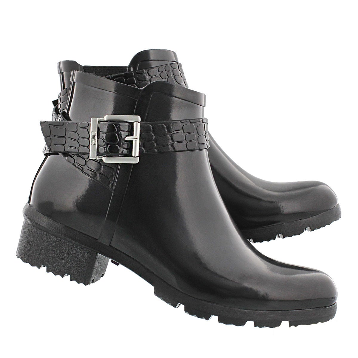Lds Taylor black short rubber boot