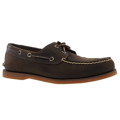 Timberland Men's CLASSIC BOAT brown 2 eye boat shoes