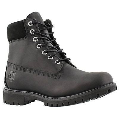 "Timberland Men's ICON 6"" PREMIUM smooth black work boots"