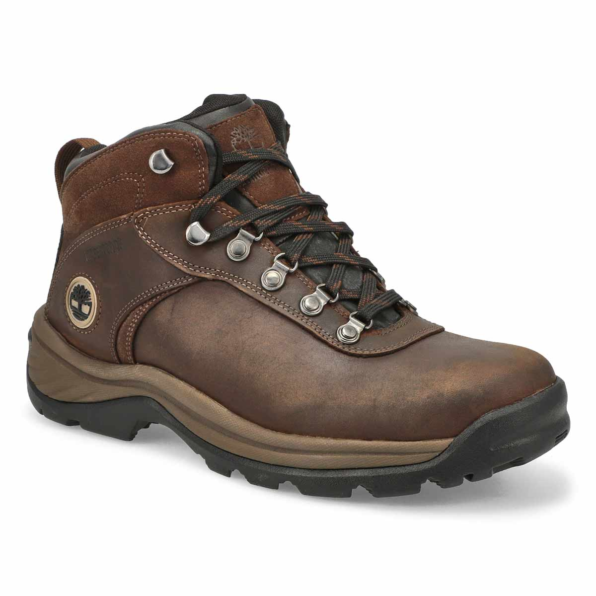 Men's FLUME MID brn waterproof lace up ankle boots