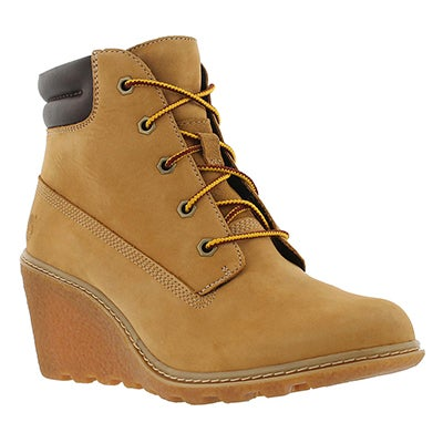Lds Amston wheat lace up wedge boot