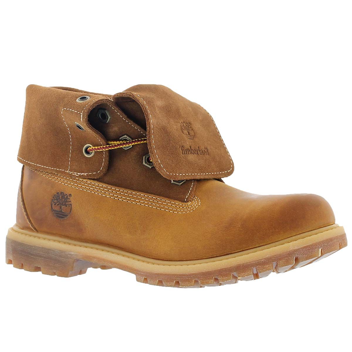 Lds Suede Roll-Top wheat ankle boot