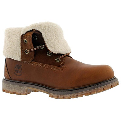 Timberland Women's AUTHENTICS TEDDY tobacco fold down boots