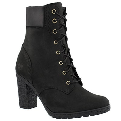 Lds Glancy laced black nubuck boot