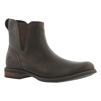 Lds Savin Hill dk brown chelsea boot