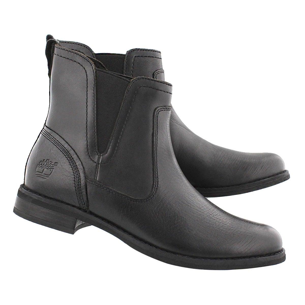 Lds Savin Hill black chelsea boot