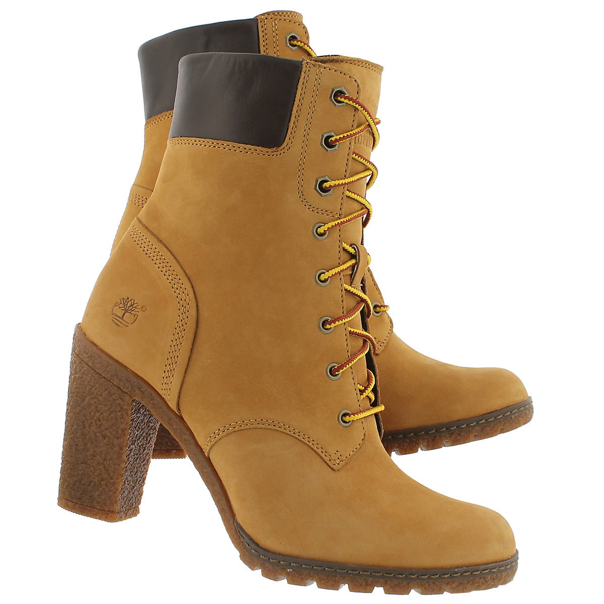 Lds Glancy laced wheat nubuck boot