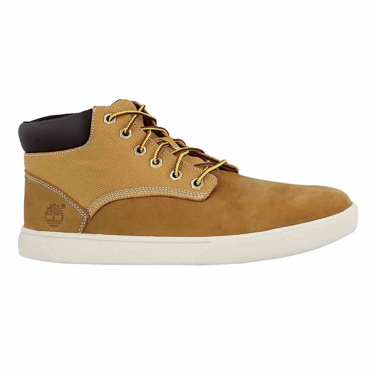 Men's GROVETON PLAIN TOE wheat chukka boots