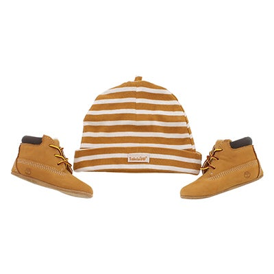 Timberland Bottines et tuque CRIB BOOTIE with HAT, blé, bébés