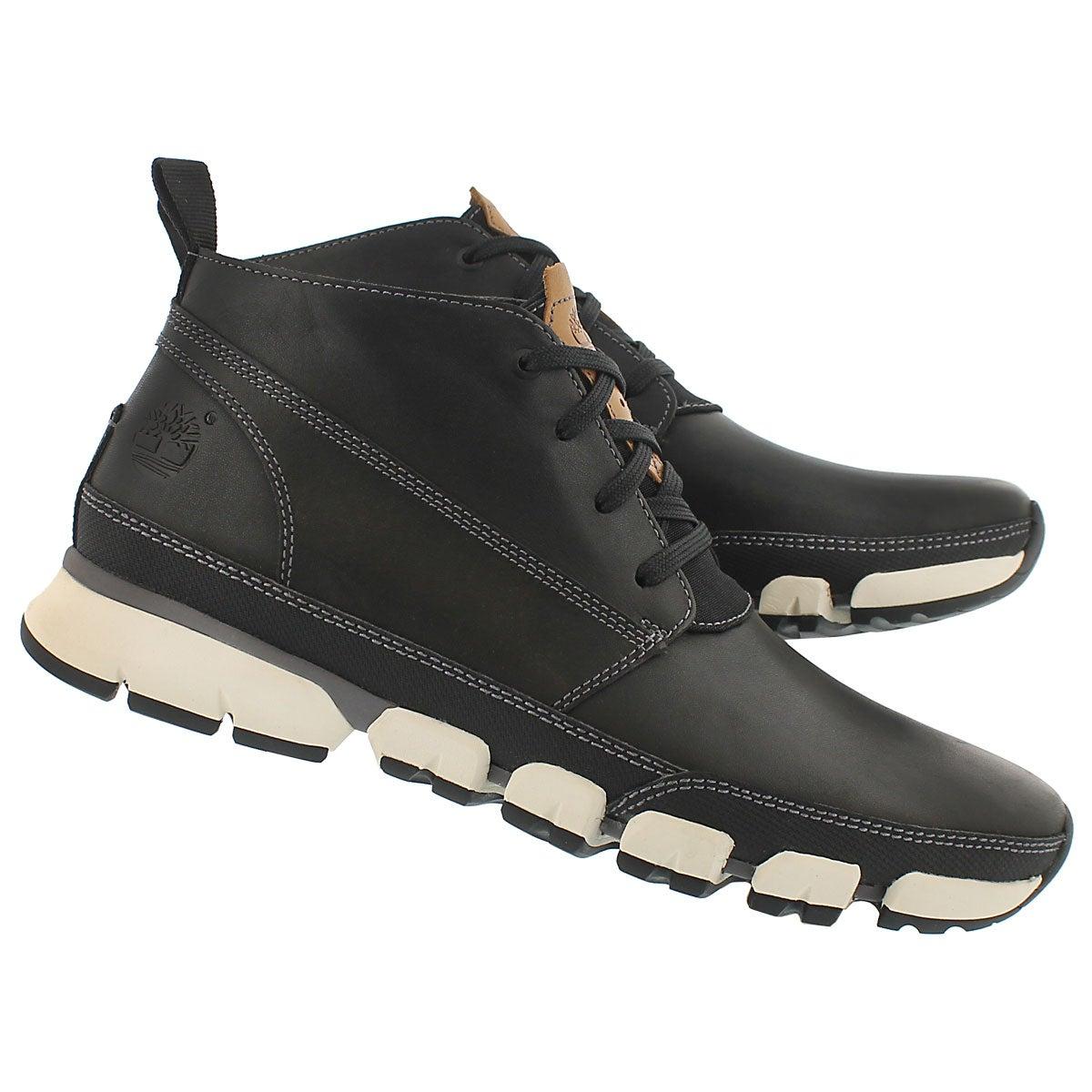 Mns Warf District blk laceup chukka boot