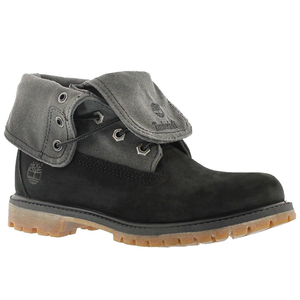 Lds Authentics black fold down boot