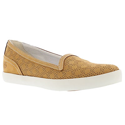 Lds Brattleboro wheat perferated slip on
