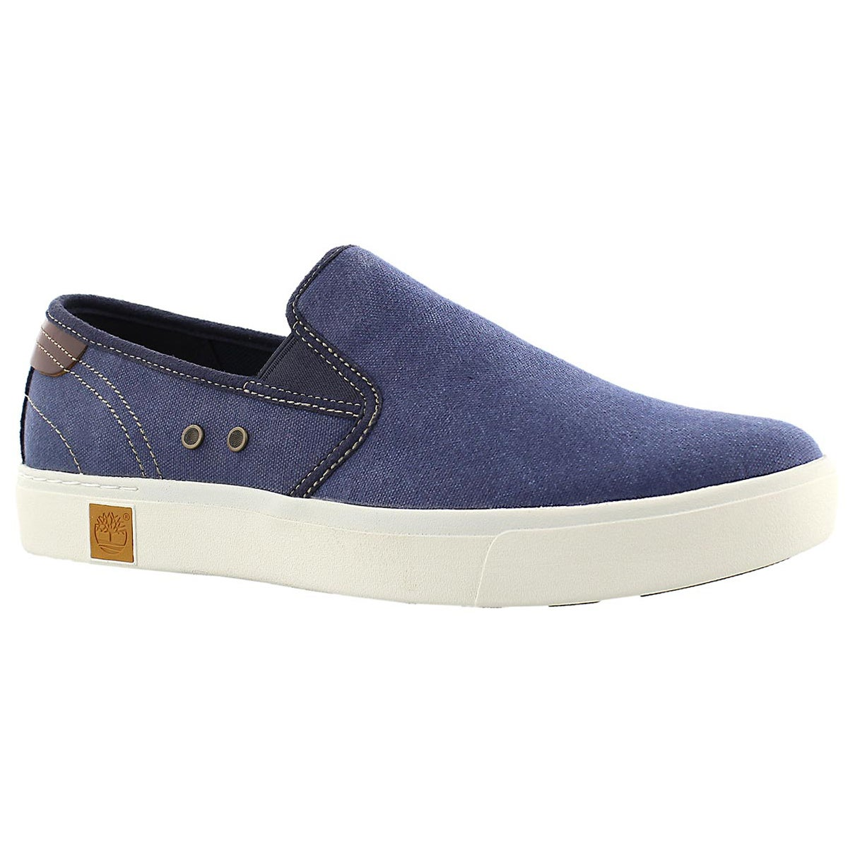 Mns Amherst navy slip on casual shoe