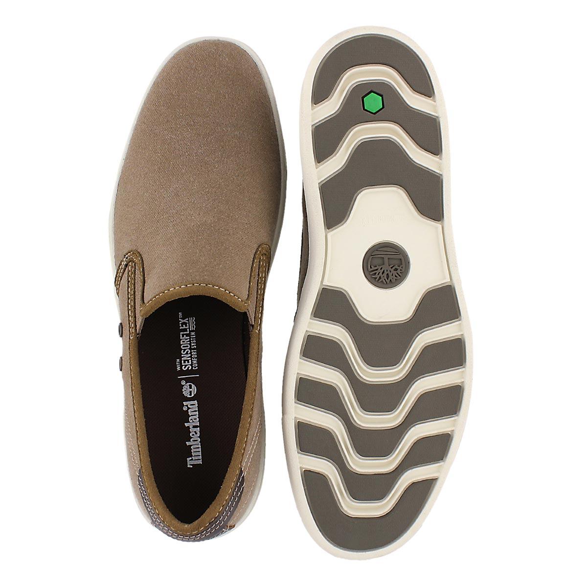Mns Amherst teak slip on casual shoe