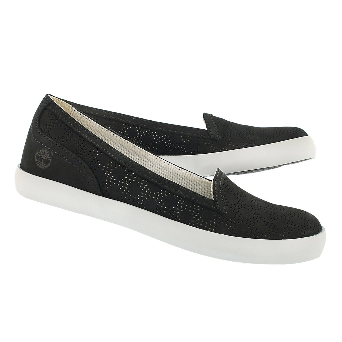 Lds Brattleboro black perferated slip on