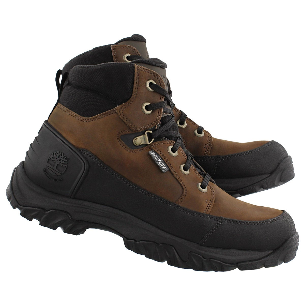 Mns Guy'd dk brown leather hiking boot