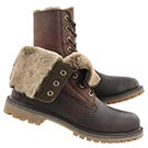 Lds Authentics Shearling fold dkbrn boot