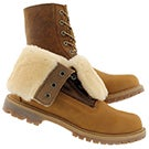 Lds Authentics Shearling fold wheat boot