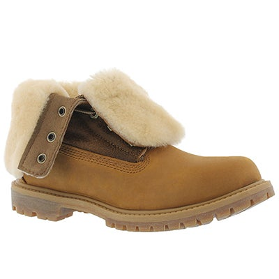 Timberland Women's AUTHENTICS SHEARLING fold wheat boots