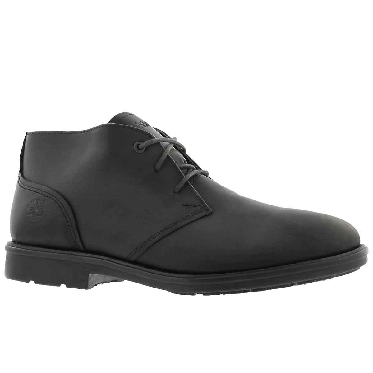Men's CARTER NOTCH black chukka boots- Wide